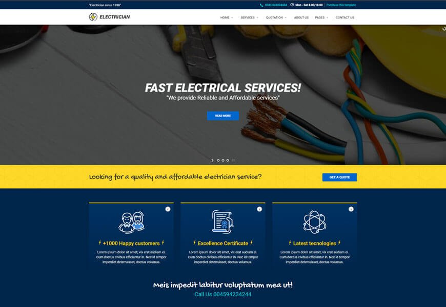 best electrical website templates making electrical company website