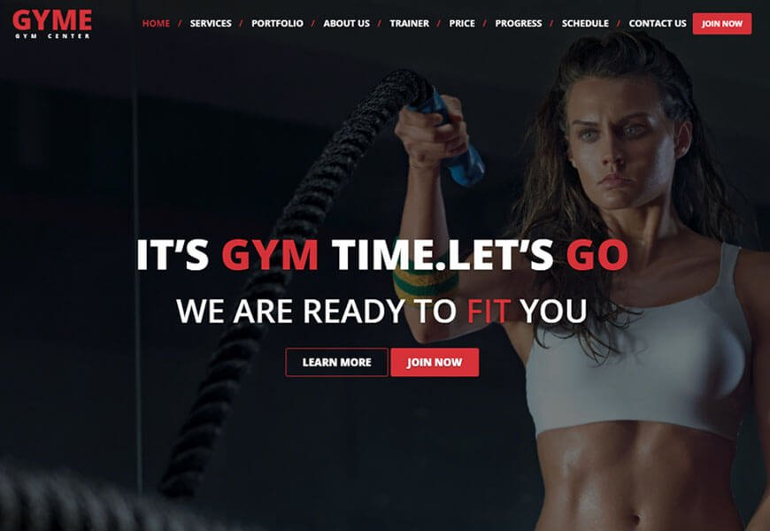 one-page gym website template