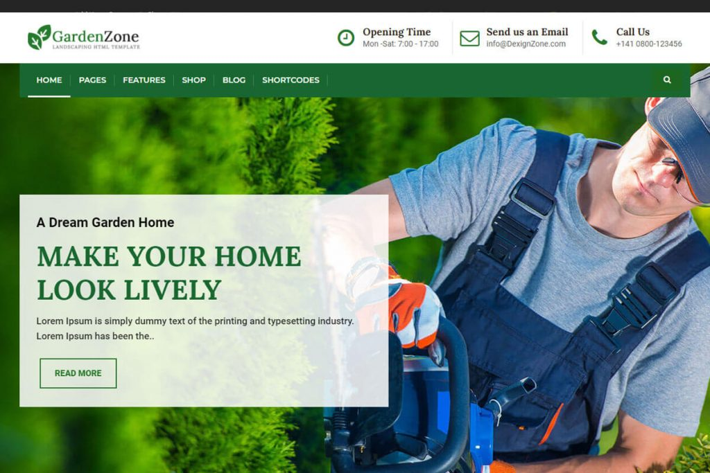 GardenZone is a fantastic landscaping website templates