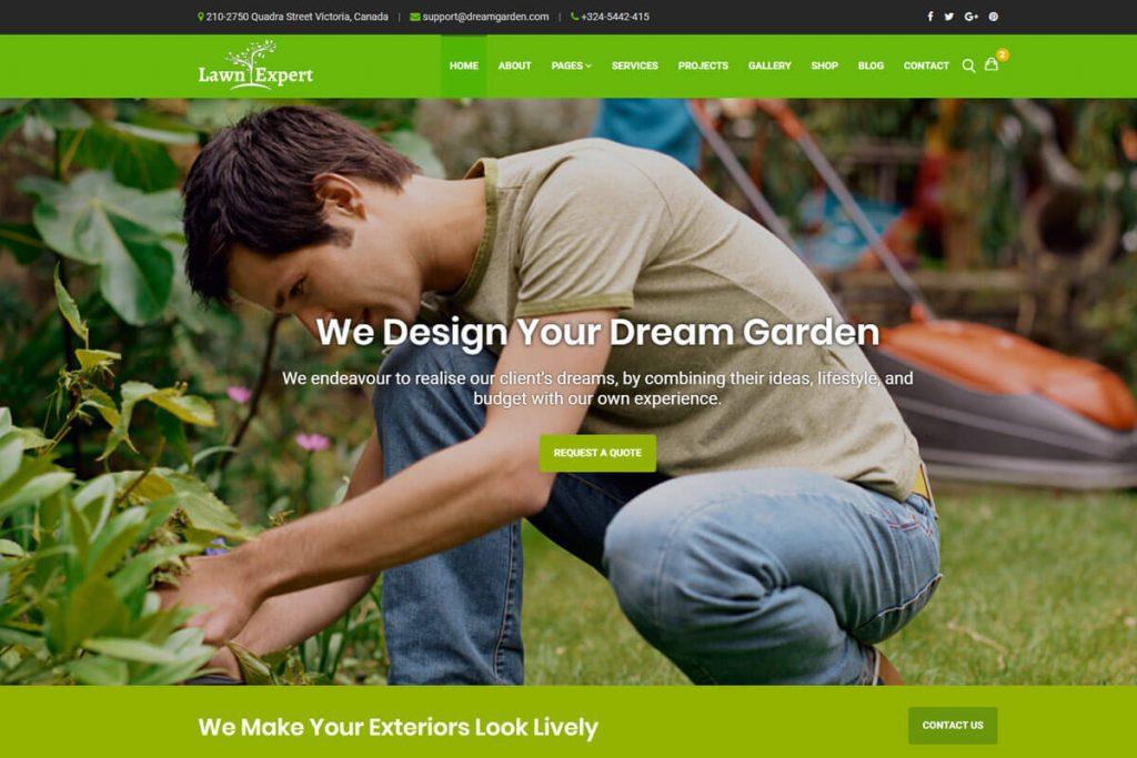 Lawn Expert is an excellent website template