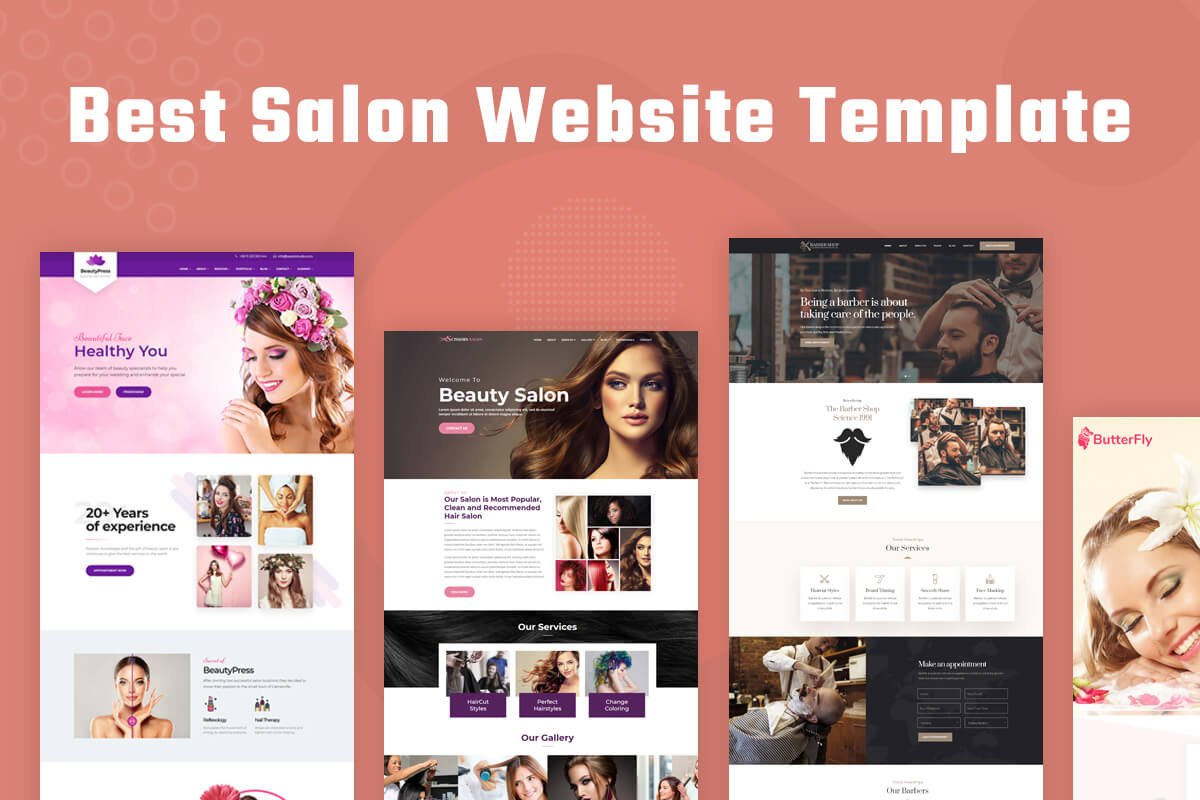 Best Salon Website Template