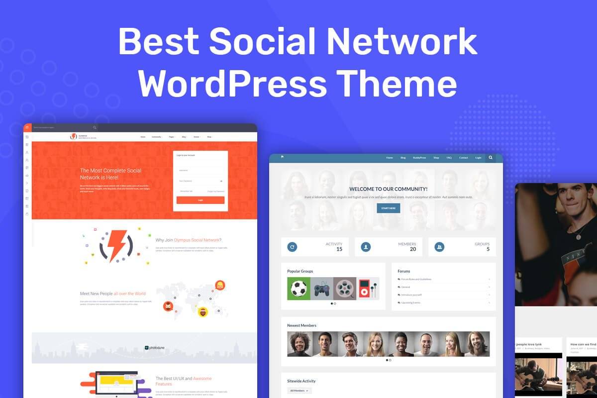 Best Social Network WordPress Themes