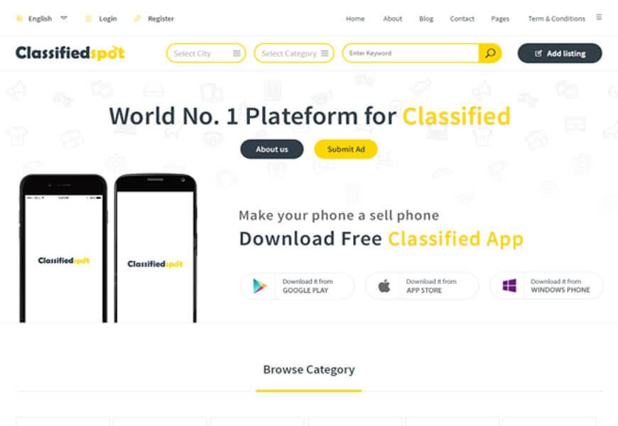 best classified website templates