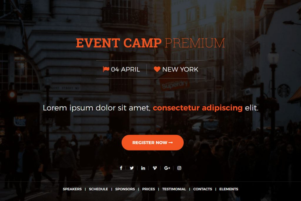 Event Camp is a premium event website template