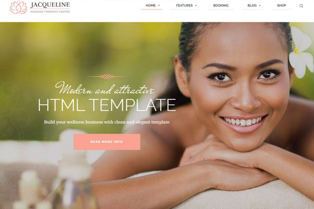 Jacqueline is another beautiful website template
