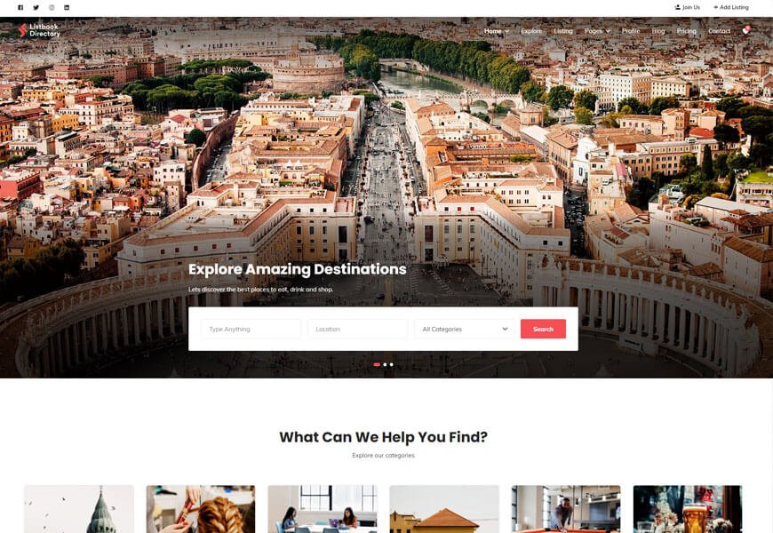 listbook another best WordPress directory theme