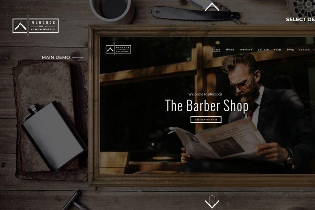 Murdock - best salon website templates