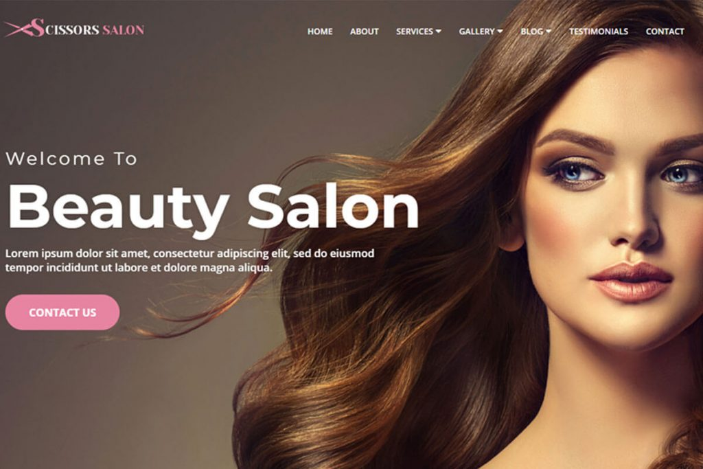 Scissors Salon is a perfectly crafted hair salon website template