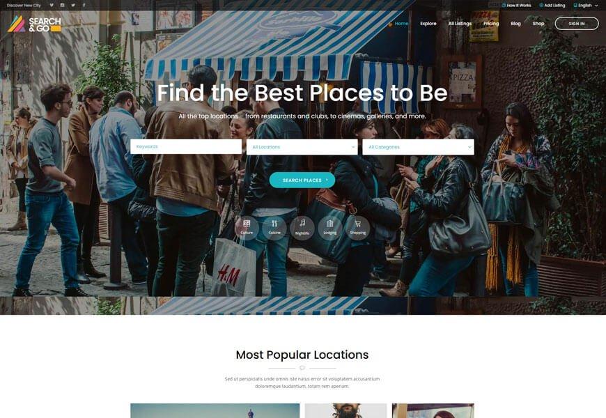 search & go directory WordPress theme