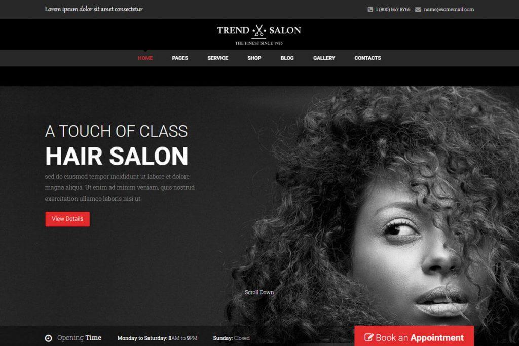 Trend Salon - salon website template