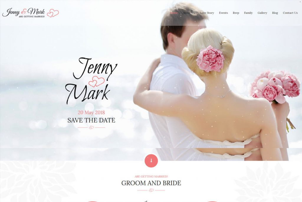 wedding event website template