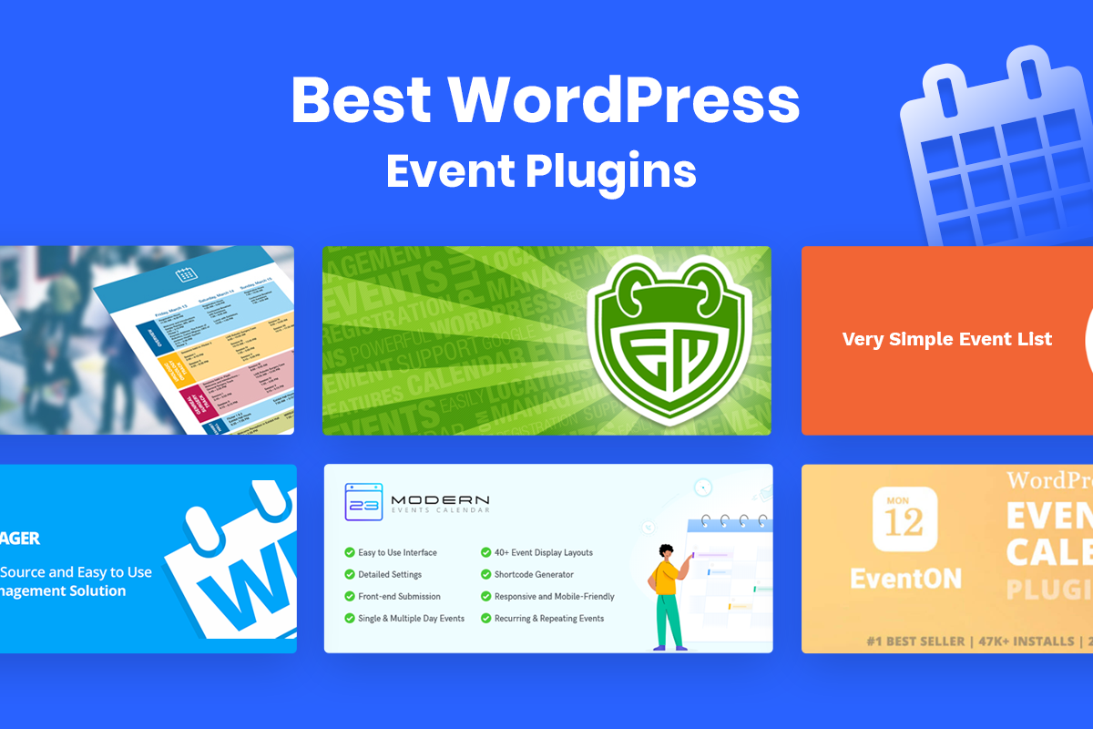 best wordpress event plugins