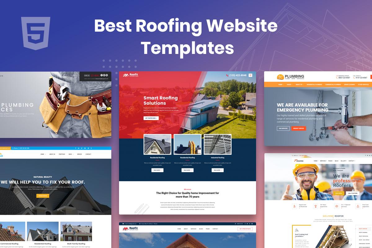best roofing website templates