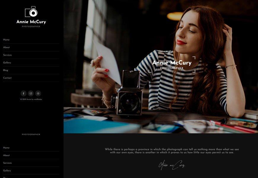 modern photography website