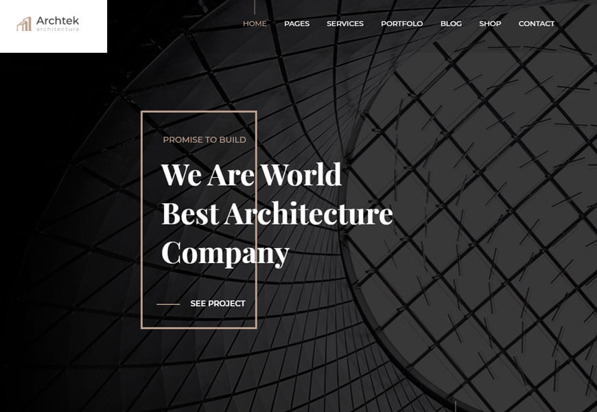 architecture services WordPress theme