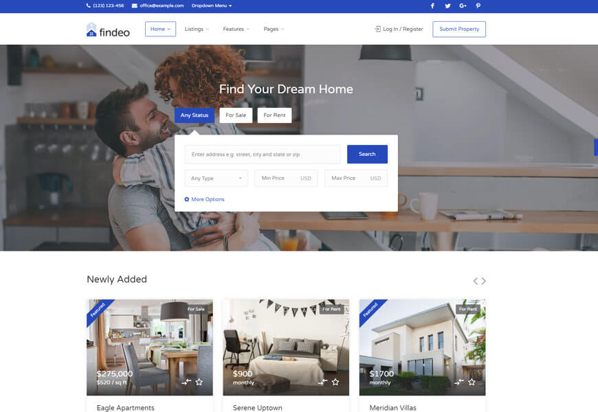 findeo is the real estate website