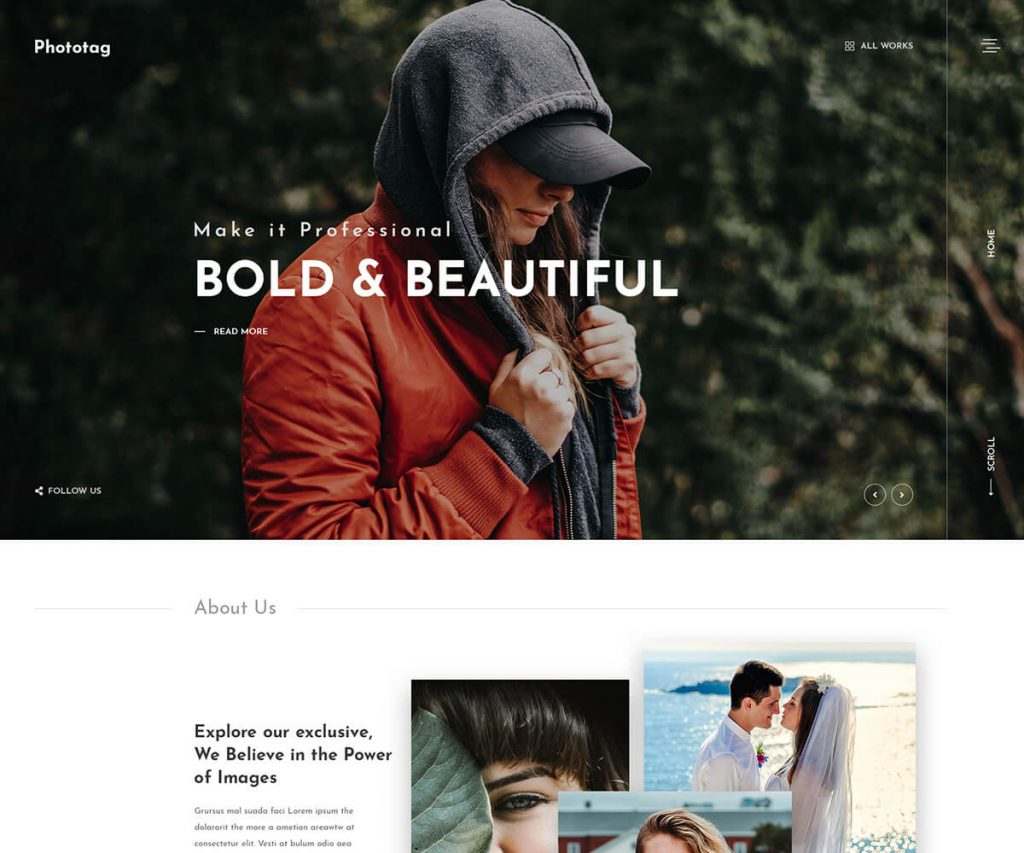 Fhototag One of the best photography portfolio WordPress themes