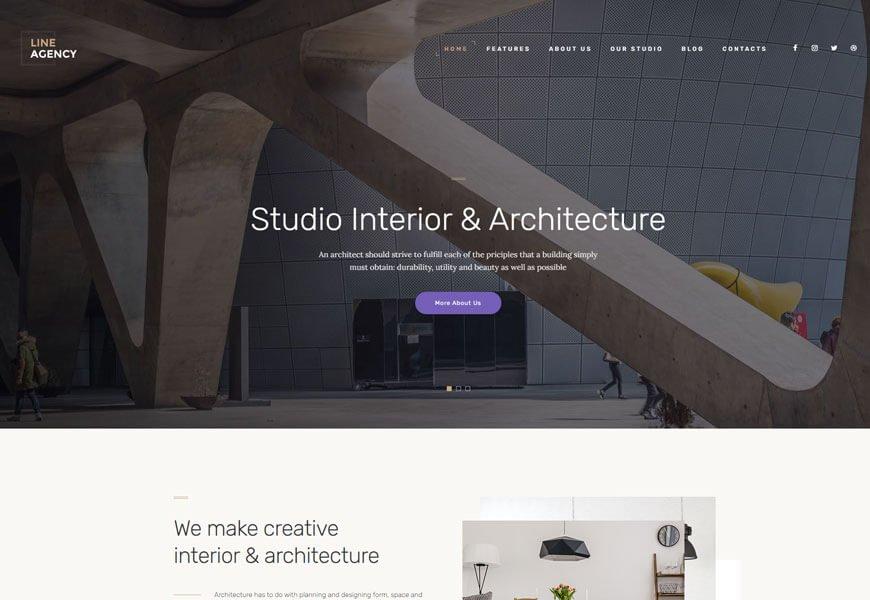 Line Agency WordPress theme