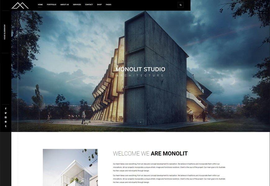 minimalist architecture WordPress theme