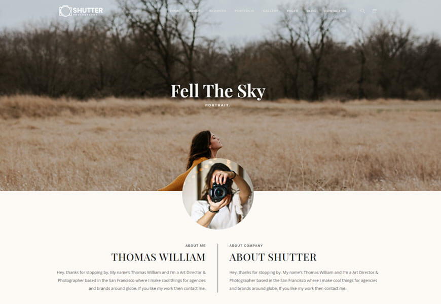 Shutter wordpress theme