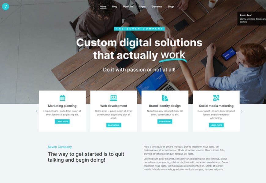 The7 is one of the best elementor WordPress theme
