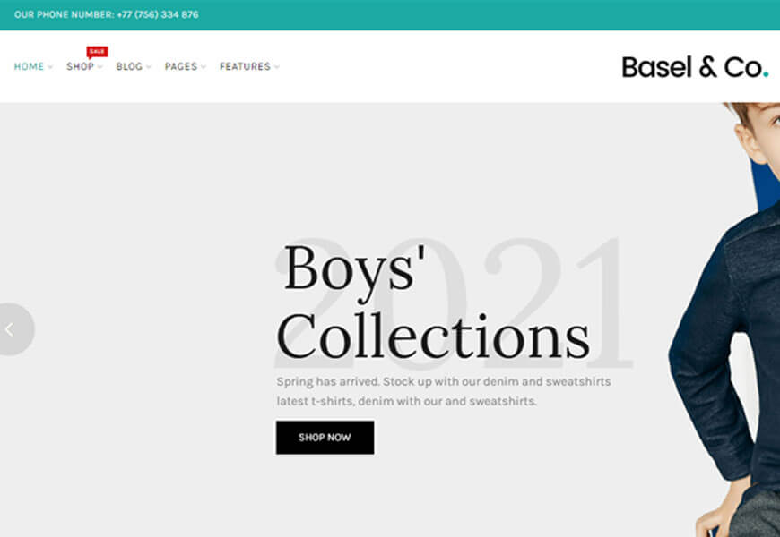 Basel is another minimalist responsive WooCommerce theme