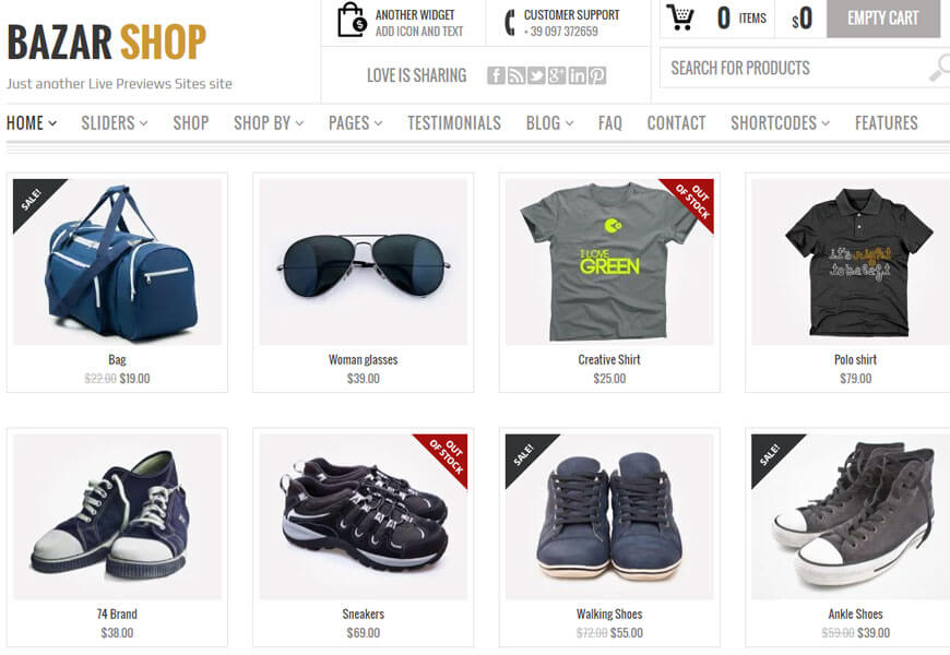 Bazar Shop is a creatively designed premium WooCommerce theme