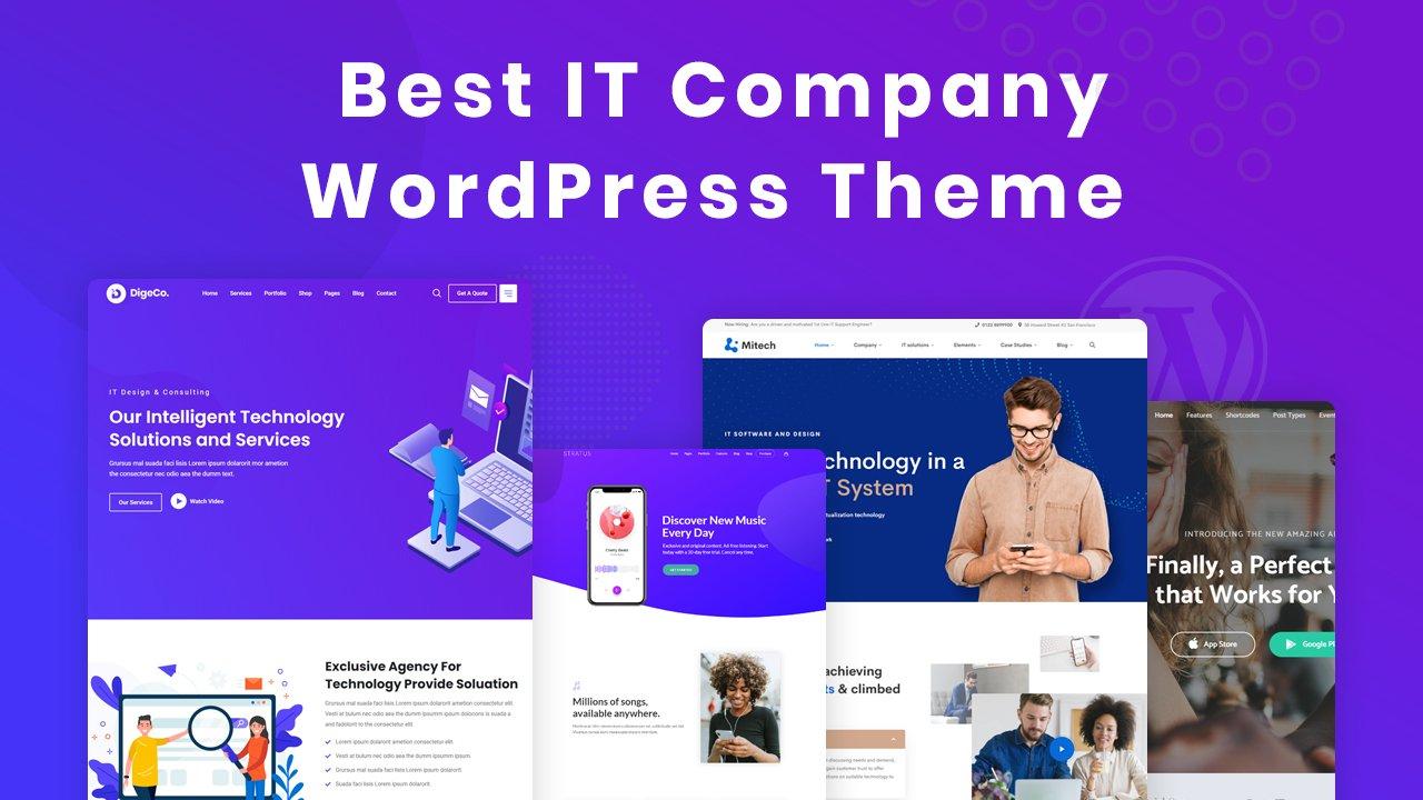 Best IT company WordPress theme