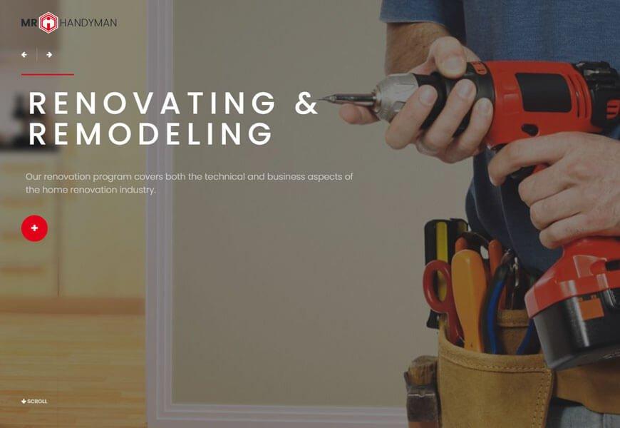 Handyman is a stylish WordPress theme for roofing , home repair WordPress theme.