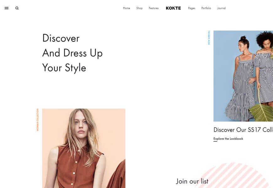 Konte is a mobile-friendly premium WooCommerce theme