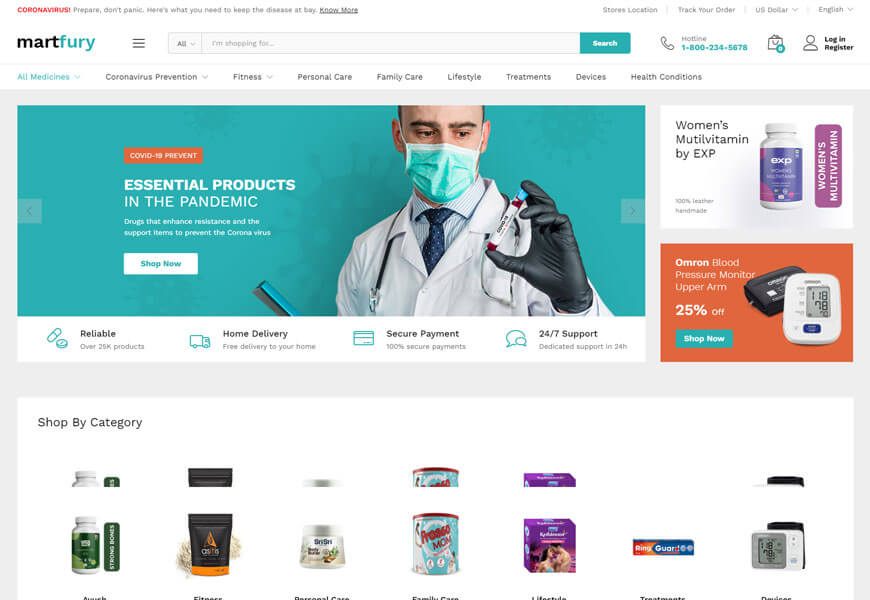 Martfury is the nice woocommerce wordpress theme