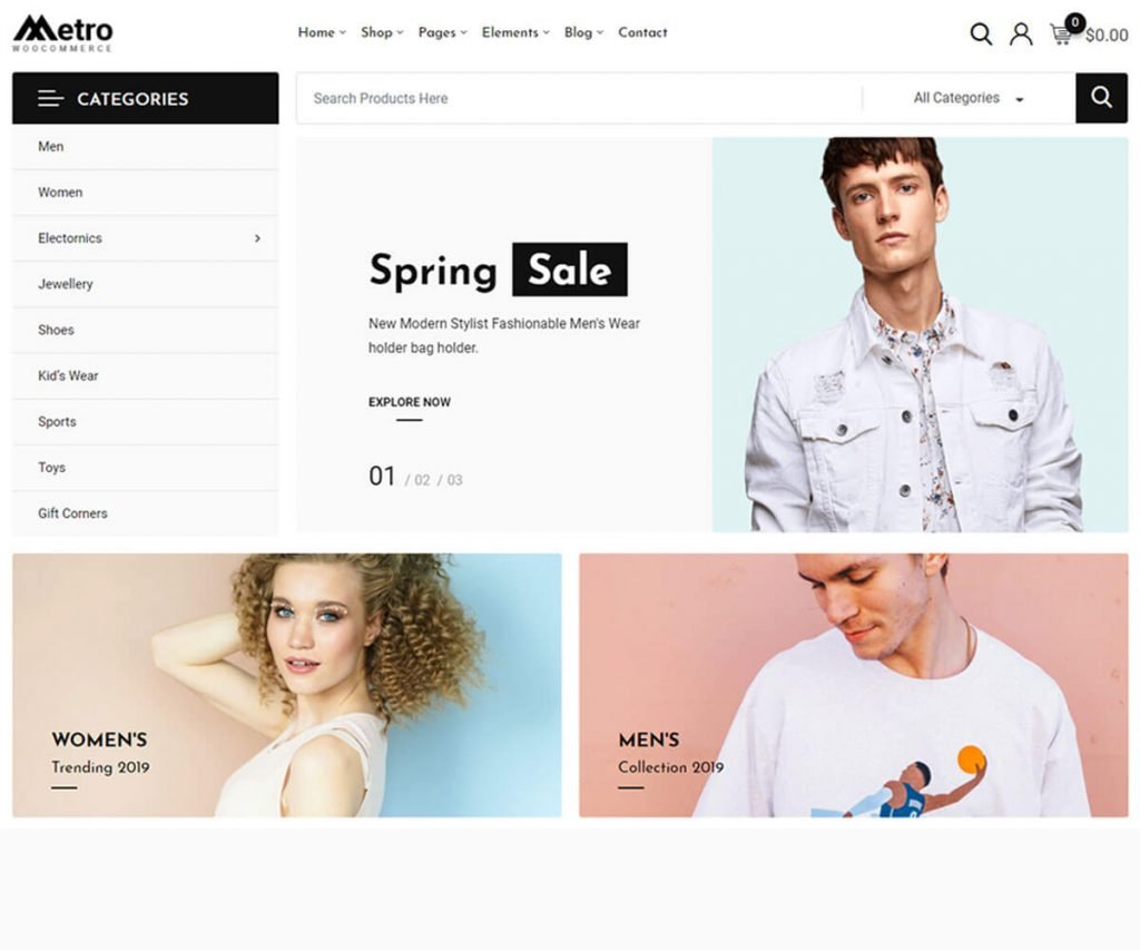 Metro is one of the best woocommerce WordPress theme