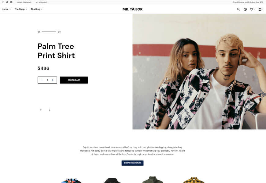Mr. Tailor 3 is one of the best WooCommerce themes