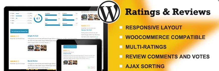 WordPress rating and review plugin