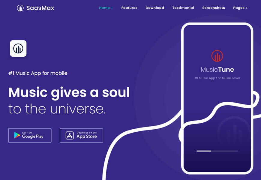 SaaSmax is another multipurpose software company WordPress theme