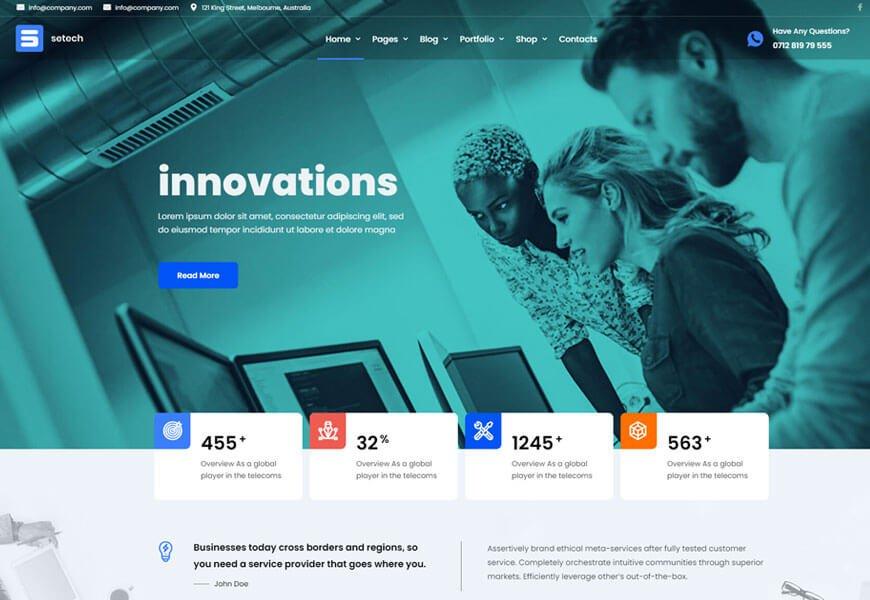 Setech is the best IT solutions WordPress theme
