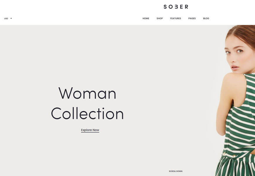 sober is premium woocommerce theme