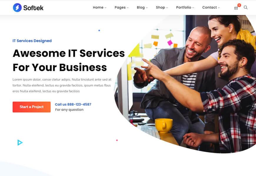 IT business WordPress themes