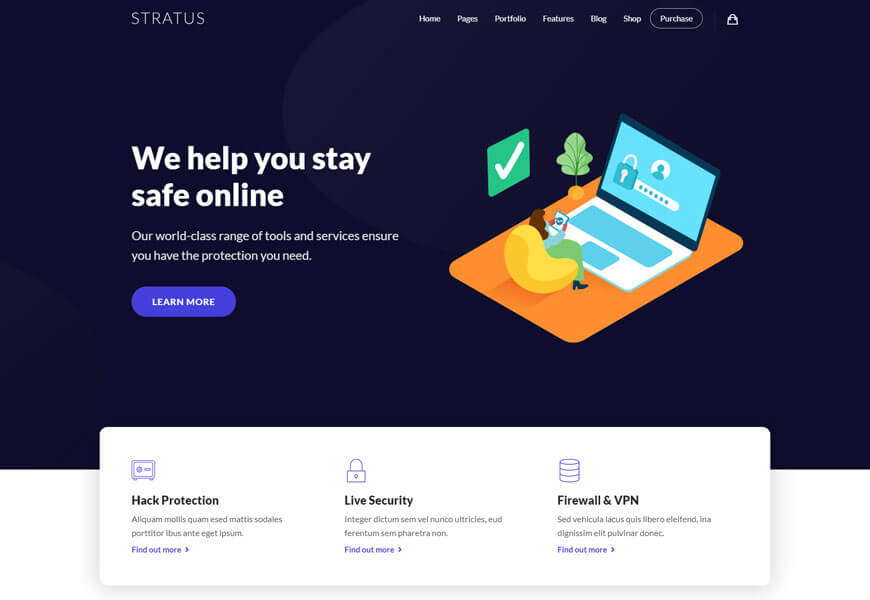 Stratus is a sophisticated IT solutions WordPress theme