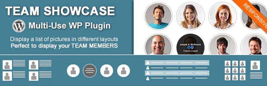 team showcase is the best team plugins for WordPress