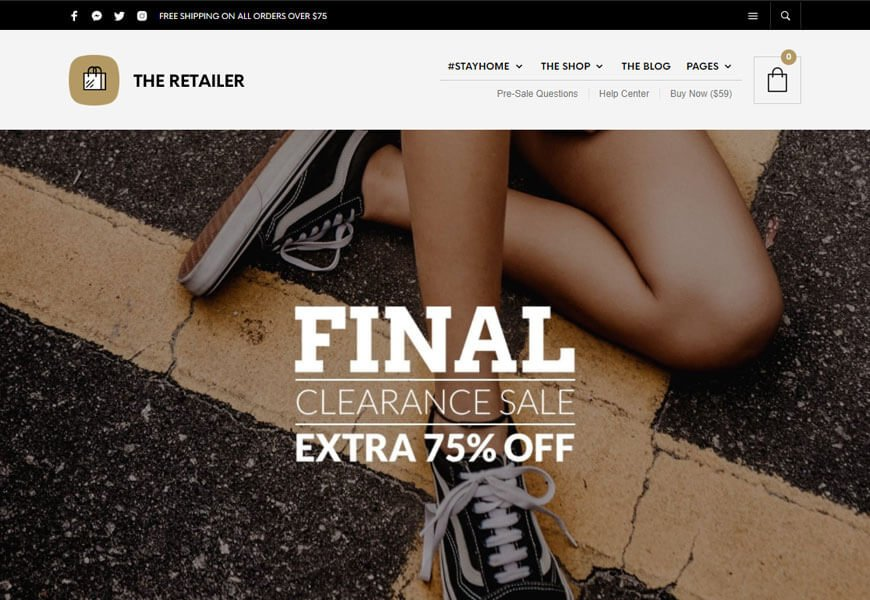 The retailer is another best woocommerce themes