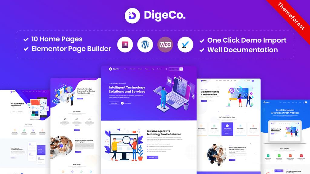 Digeco is the best IT company WordPress theme