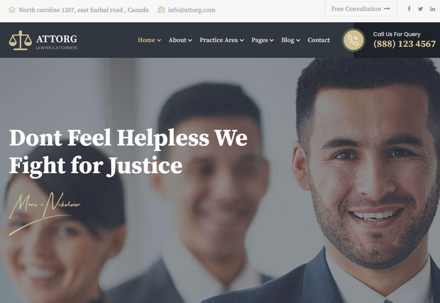 best lawyer WordPress theme