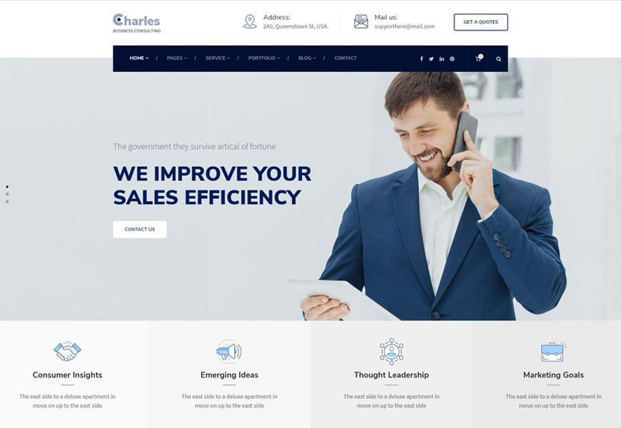 Charles is one of the best business consulting website template