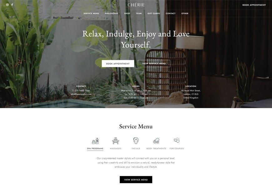 Chérie - Salon WordPress Theme