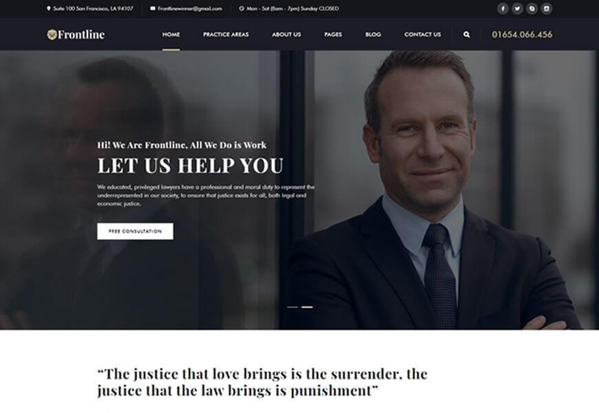 Frontline is fantastic lawyer WordPress theme