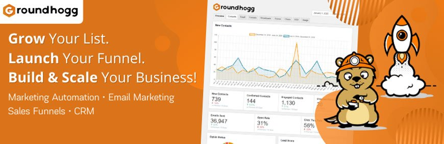 Groundhogg is another one of the best CRM WordPress plugins