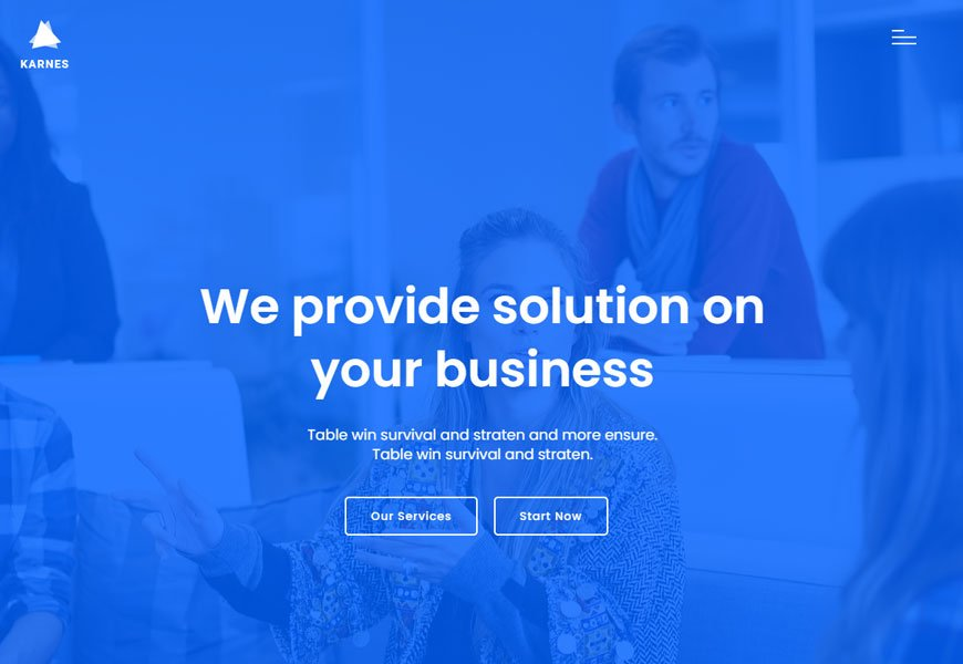 finance and business consulting website template