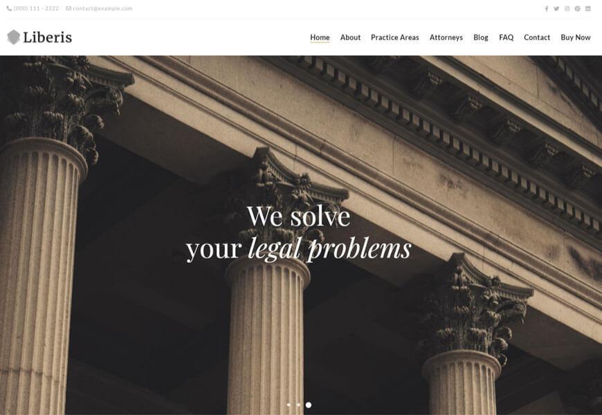 Liberis is law firm wordpress theme