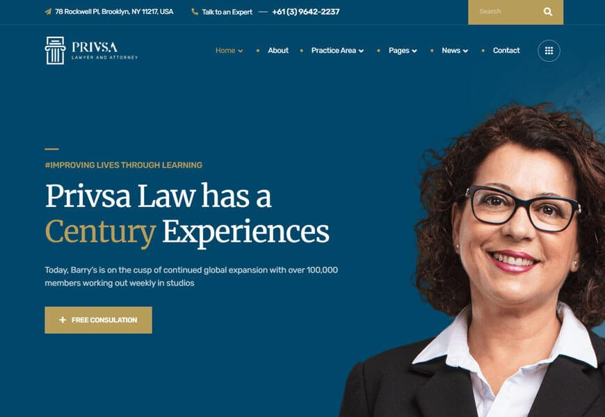 Privsa is one of the best law firm WordPress theme